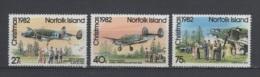 (S1234) NORFOLK ISLAND, 1982 (Christmas And 40th Anniversary Of Aircraft Landing). Complete Set. Mi ## 295-297. MNH** - Norfolk Island