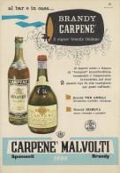 # CARPENE' MALVOLTI 1960s Advert Pubblicità Publicitè Reklame Food Drink Liquor Brandy Liqueur Licor Alcohol Bebidas - Manifesti