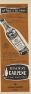 # CARPENE´ MALVOLTI 1960s Advert Pubblicità Publicitè Reklame Food Drink Liquor Brandy Liqueur Licor Alcohol Bebidas - Manifesti