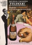 # OMINO FOLONARI VINO BARBERA PIEMONTE 1960s Advert Pubblicità Publicitè Reklame Food Drink Vino Wine Vin Wein Vinho - Manifesti