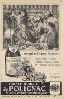 # COGNAC PRINCE HUBERT De POLIGNAC 1960s Advert Pubblicità Publicitè Reklame Drink Liquor Liquore Liqueur Licor Bebidas - Posters