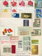 DDR 14 Briefe, Meist-R-Bf Mit Satzfrankaturen, Blocks, Kleinbogen (XL9896) - Sellos