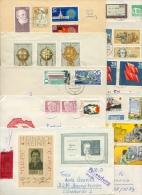 DDR 14 Briefe, Meist-R-Bf Mit Satzfrankaturen, Blocks, Kleinbogen (XL9898) - Sammlungen (ohne Album)