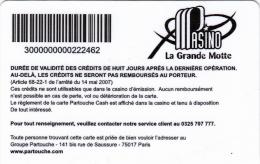 Casino La Grande Motte - 2 scans - Slot Card  - La Grande Motte  - France - Partouche Casinos