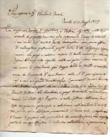 ANTICO PIEGO -PREFILATELICO-TURATE-17-5-1827 X MILANO-CASA NEFFZER - Non Classificati