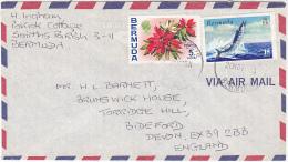 Air Mail BERMUDA COVER Stamps   WAHOO FISH , FLOWER  Flowers - Bermuda