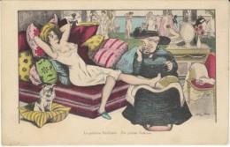 Xavier Sager Artist Signed 'Galant Pedicure', Semi-nude Woman, C1910s Vintage Postcard - Sager, Xavier