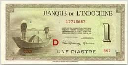 FRENCH INDOCHINA  P. 76b 1 Ps 1951 UNC - Indochine