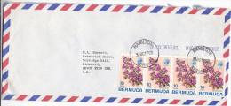 1975 Air Mail BERMUDA COVER Stamps 4 X Bougainvillea FLOWER Flowers - Bermudes