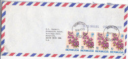 1975 Air Mail BERMUDA COVER Stamps 4 X Bougainvillea FLOWER Flowers - Plants