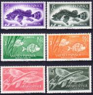 SAHARA ESPAGNOL 1953-54 YT N° 95 à 98 Et 103 Et 105 ** - Sahara Spagnolo