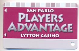 San Pablo Lytton Casino, San Pablo, CA, U.S.A., older BLANK  used slot or players card, # sanpablo1blank