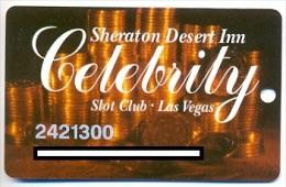 Sheraton Desert Inn Casino,   Las Vegas, NV, U.S.A., older used slot or player�s card,  sheraton-4