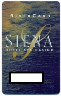 Siena Casino, Reno, NV, U.S.A.  older used slot or players card,  siena-1a