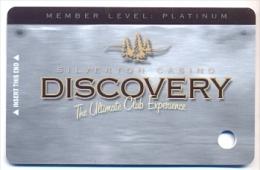 Silverton Casino, Las Vegas  older BLANK used slot or player's card, silverton-5blank
