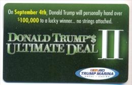 Trump Marina Casino, Atlantic City, NJ, U.S.A., older BLANK used slot card, trump-18blank