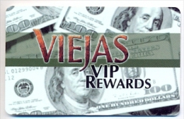 Viejas Casino, Alpine, CA,  U.S.A., older BLANK used slot or player�s card,  # viejas-2blank