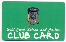 Wild Card Saloon & Casino, Black Hawk, CO, U.S.A., older BLANK used slot or player�s card, # wildcard-2blank