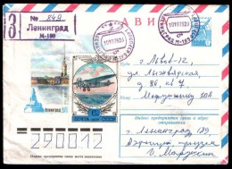 Russia USSR Postmark Leningrad M-189 Airport,  R-cover Air Mail - 1923-1991 USSR