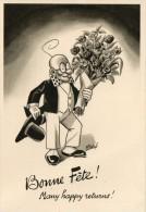 CP Professeur NIMBUS, Par Daix. Bonne Fête, Many Happy Returns, Bouquet De Fleurs . - Autres Illustrateurs