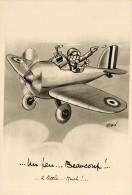 CP Professeur NIMBUS, Par Daix. Un Peu, Beaucoup ... A Little .. Much ... Marguerite Effeuillée Dans Un Avion. - Autres Illustrateurs