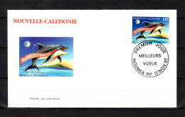 """Enveloppe 1er Jour De 1997 """" DAUPHIN / MEILLEURS VOEUX / NOUMEA Le 17/11/1997 """" N° YT 745. FDC"""