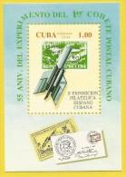 Cuba 1994 BF 139 ** Transport Postal Par Fusée 55 ème Anniversaire Espace - Cuba