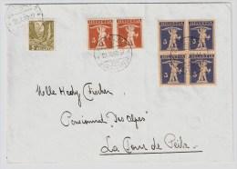 Schweiz, 1940, Seltene Mischfrankatur Gleicher Stufen! , #2849 - Schweiz