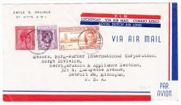Leewards Islands 28.12.1946 KLM Flugpost Brief Nach Detroit USA - Leeward  Islands