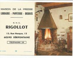 CALENDRIER DE POCHE - MAISON DE LA PRESSE à SERIFONTAINE (OISE) - 1973 - CHEMINEE. - Calendarios