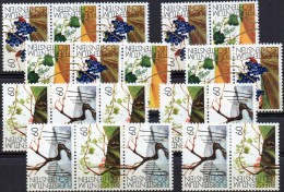 Wein-Anbau 1994 FL Liechtenstein 1089/2,8xZD Senkrecht+4-Block ** 32€ Weinrebe/4 Jahreszeiten Hb Se-tenant Bf Fürstentum - Altri