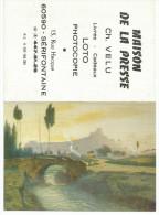 CALENDRIER DE POCHE - MAISON DE LA PRESSE à SERIFONTAINE (OISE) - 1983- RIVIERE ET PONT. - Calendarios