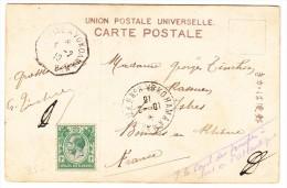 Straits Settlements 4.2.1916 Schiffsstempel Yokohama UPU AK Motiv Frau Mit Rose Nach Istres F. - Straits Settlements