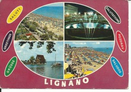 UD581 -SALUTI DA LIGNANO - VIAGGIATA 1972 - Udine