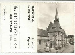 CALENDRIER DE POCHE - MAISON DE LA PRESSE à SERIFONTAINE (OISE) - 1965 - EGLISE. - Calendriers