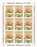 Tayikistan Nº 62 En Minipliego De 9 Sellos - Tayikistán