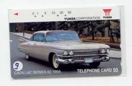 PHONECARD JAPAN *  CADILLAC *   TELECARTE JAPON CADILLAC *  Schede Telefoniche (9) TELEFONKARTE - Cars