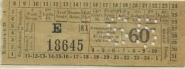 TICKET TRANVIAS DE BRUSELAS // 1929