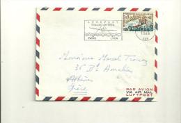 0,70 CHAMPIONNAT DU MONDE DE CANOE KAYAK SUR LETTRE AVION POUR L4ETRANGER - 1961-....