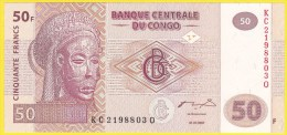 Billet De Banque Neuf - 50 Francs - Village De Pêcheurs - N° KC 2198803 Q - Banque Centrale Du Congo - 2007 - Zonder Classificatie