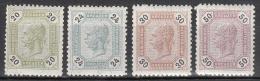 austria   scott no.  66-69    mnh    year  1891
