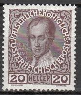 austria   scott no.  117a     mnh   year  1908