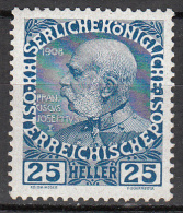 austria   scott no.  118a     mnh   year  1908