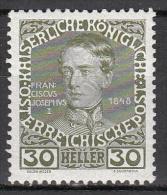 austria   scott no.  119a     mnh   year  1908