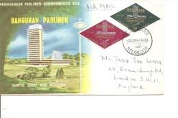 Malaysia -Parlement ( FDC De 1963 Voyagé Vers La Grande-Bretagne à Voir) - Malayan Postal Union