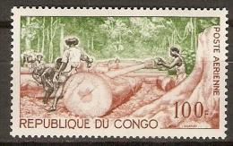 CONGO.   Aéro.   1964.   Y&T N°18 **.MNH.   Abattage Du Bois. - Mint/hinged