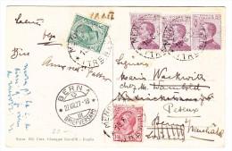 Italien 18.8.1927 Mendola Auf AK Nach Peseux - 1900-44 Victor Emmanuel III.