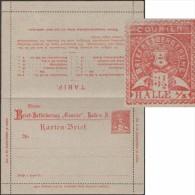 Allemagne 1893. Entier Poste Privée. Halle, Carte-lettre. Tarif Postal : Cartes-lettres, échantillons, Mandats... Blason - Enveloppes