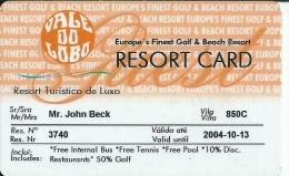 HOTEL VALE DO LOBO LUXE GOLF RESORT PORTUGAL, llave clef key keycard karte