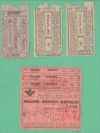 Genova Biglietti Ticket  Tranways E  Bus Linea Sat - Tramways